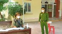 Xử phạt 1 trường hợp vượt chốt vào xã Nghi Ân (TP Vinh)