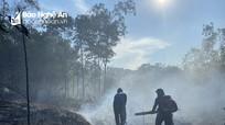 Kịp thời dập tắt vụ cháy rừng tại huyện Thanh Chương