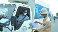Duy trì nghiêm việc tăng cường kiểm soát người và phương tiện trên địa bàn TP Vinh