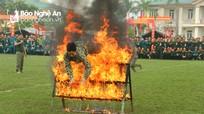 Cận cảnh Đại tá Phó Tham mưu trưởng BĐBP Nghệ An trổ tài võ thuật