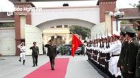 Bộ trưởng Tô Lâm làm việc với Công an tỉnh Nghệ An