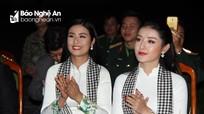 Hoa hậu Ngọc Hân, Á hậu Huyền My giao lưu với bộ đội Nghệ An