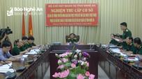 Bộ CHQS tỉnh Nghệ An nghiệm thu công trình truyền hình họp trực tuyến