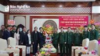 Chủ tịch HĐND tỉnh và các đoàn công tác chúc mừng các đơn vị nhân ngày truyền thống Quân đội nhân dân Việt Nam