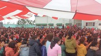 Huyện Yên Thành ráo riết tìm người từng đến nhà máy may