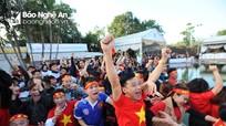 Người hâm mộ Nghệ An bùng nổ vì U23 Việt Nam