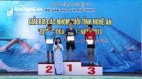 TP Vinh về nhất chung cuộc Giải bơi 'Đường đua xanh' 2019