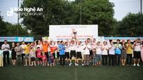 Liên quân Sở Tư pháp - Nội vụ vô địch môn bóng đá Giải thể thao Đảng ủy Khối Các cơ quan tỉnh