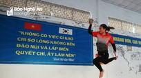 Những bài tập 'lạ' của vận động viên Nghệ An