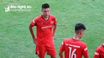 Hậu vệ Thành Lâm của SLNA chia tay U22 Việt Nam vì chấn thương