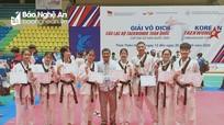 Taekwondo Nghệ An giành 3 HCV Giải Vô địch CLB toàn quốc 2020