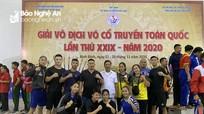 Nghệ An giành 2 HCV tại Giải vô địch võ cổ truyền toàn quốc 2020