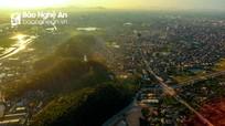 Ngắm toàn cảnh đền thờ vua Quang Trung - núi Dũng Quyết từ flycam