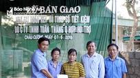 Quỳ Hợp: Bàn giao 2 nhà Đại đoàn kết và sổ tiết kiệm cho hộ nghèo  