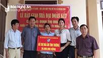 Bàn giao nhà đại đoàn kết cho phụ nữ nghèo đơn thân ở Hoàng Mai