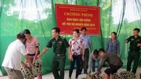 Đồn Biên phòng Tam Quang hỗ trợ hộ nghèo phát triển chăn nuôi
