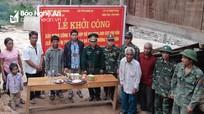 BĐBP khởi công công trình giúp đỡ gia đình có 3 con bị tàn tật ở Kỳ Sơn