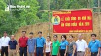 Khởi công xây dựng nhà 'Mái ấm công đoàn' ở Con Cuông