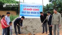 Đảng ủy Khối Các cơ quan tỉnh khởi công xây dựng nhà tình nghĩa tại Tân Kỳ