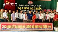Đại hội Đảng bộ xã Ngọc Sơn (Đô Lương) nhiệm kỳ 2020 - 2025