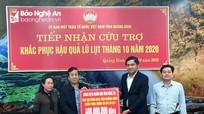 Nghệ An trao 800 triệu đồng hỗ trợ Quảng Bình, Hà Tĩnh khắc phục thiệt hại do mưa lũ