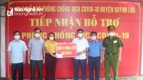 Sở GTVT Nghệ An trao tiền ủng hộ Quỳnh Lưu phòng, chống dịch bệnh Covid–19