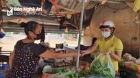 """Nhiều địa phương ở Nghệ An triển khai """"Đi chợ giúp dân"""" mùa dịch"""