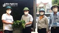 Nông dân Thanh Chương hỗ trợ thành phố Vinh 3 tấn rau xanh