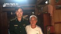 Thăm hỏi, tặng quà cựu chiến binh biên phòng có hoàn cảnh khó khăn