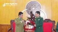 Lực lượng vũ trang nước bạn Lào chúc Tết Bộ đội Biên phòng và BCHQS tỉnh Nghệ An