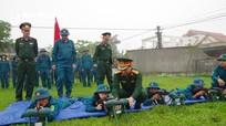 Bộ CHQS tỉnh kiểm tra công tác huấn luyện dân quân tự vệ tại Diễn Châu