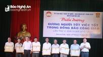 Biểu dương gương 'người tốt, việc tốt' trong đồng bào Công giáo huyện Quỳnh Lưu