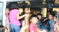 Nhiều xe đưa đón học sinh ở Nghệ An chưa đảm bảo quy định