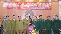 Công an tỉnh Hủa Phăn chúc Tết Bộ đội Biên phòng Nghệ An và Công an tỉnh