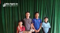 3 em học sinh Nghệ An trả lại 9 triệu đồng cho người đánh rơi