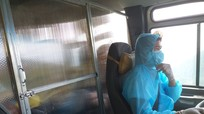 Biên phòng Nghệ An sáng chế vách ngăn cách ly trên xe vận chuyển công dân