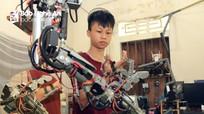 Nam sinh vùng cao Nghệ An sáng tạo cánh tay robot, thiết bị điều hướng pin mặt trời