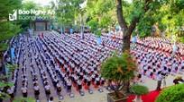 Những hình ảnh đẹp về lễ khai giảng năm học mới tại Nghệ An