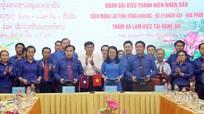 Tỉnh đoàn Nghệ An ký kết Chương trình phối hợp công tác với Tỉnh đoàn 3 tỉnh nước bạn Lào