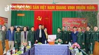Chủ tịch MTTQ tỉnh thăm, chúc tết đồng bào, chiến sỹ tại huyện Con Cuông