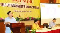 Phó Chủ tịch Ủy ban Trung ương MTTQ Việt Nam làm việc tại Nghệ An