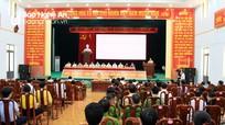 Các ứng viên đại biểu Quốc hội và Hội đồng nhân dân tỉnh tiếp xúc cử tri tại huyện Đô Lương