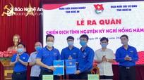 Tuổi trẻ Khối Doanh nghiệp và Khối CCQ tỉnh ra quân Chiến dịch tình nguyện Kỳ nghỉ hồng 2021