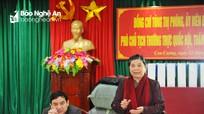 """Đồng chí Tòng Thị Phóng: Phấn đấu xây dựng """"phố trong rừng, rừng trong phố"""" ở Con Cuông"""