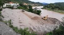 Bãi tập kết cát, sỏi không phép ngang nhiên hoạt động ở xã vùng cao Nghệ An