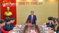 Trưởng ban Tổ chức Trung ương đánh giá cao sự thống nhất, đoàn kết trong công tác cán bộ của Nghệ An