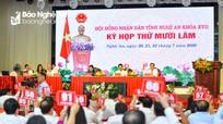 Điểm nhấn ngày họp thứ nhất, kỳ họp thứ 15, HĐND tỉnh Nghệ An khóa XVII