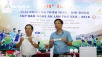 Bốc thăm chia bảng Giải Bóng đá TN-NĐ Cúp Báo Nghệ An năm 2018