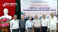 Thành lập Chi hội Văn nghệ Dân gian tại Nghệ An
