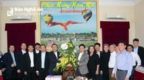 Tòa Giám mục Giáo phận Vinh chúc mừng năm mới Tỉnh ủy, UBND tỉnh, UBMTTQ tỉnh và Công an tỉnh